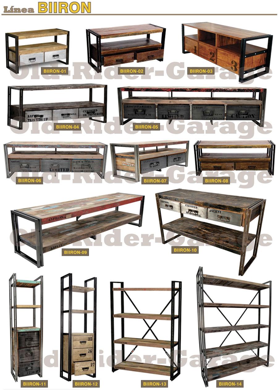 Old rider muebles vintage industriales - Muebles de entrada vintage ...